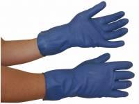 Latexhandsker XL (9½-10) blå 12par/pak