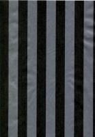 Gavepapir sort & sølv stribet nålestribet 55cmx150m dess 9033