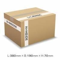 Bølgepapkasse 380x190x90mm 1836 - 5L - 3mm