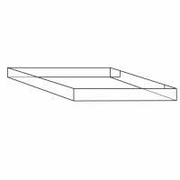 Containerbund/-top 24 1 bølge 800x600x100mm 4-punkt limet..