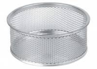 Clipsholder tråd metal m/skridsikker bund sølv