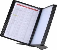 Registersystem A4 Easymount t/5 lommer sort bordmodel