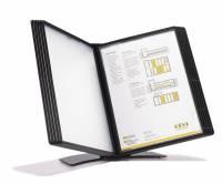 Registersystem A5 Easymount t/5 lommer sort bordmodel