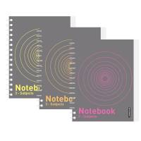 Notesbog 3-delt memo A5 Docusmart 120 blade