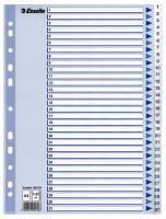 Register PP Esselte A4 1-31 m/hvid kartonforblad