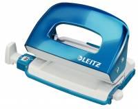 Hulapparat Leitz Mini WOW 2-huls 10ark blå