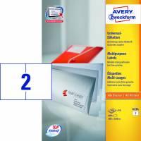Laseretiket Avery A5 105x148mm 2/ark 200ark/pak 6134