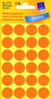 Etiket Avery neon orange Ø18mm 3173 96stk/pak