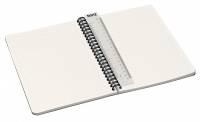 Notesblok Leitz Office karton grå A5 linjeret