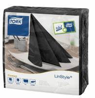 Serviet Tork Linstyle sort 39x39cm 1/4 fold 50stk/pak