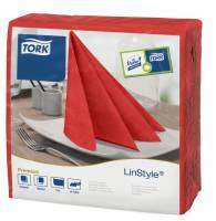 Serviet Tork Linstyle rød 39x39cm 1/4 fold 50stk/pak