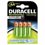 Batteri Duracell genopladelig AA 2400mAh 4stk/pak