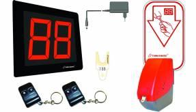 Kø-nummersystem startpakke m. display Rød dispenser D900