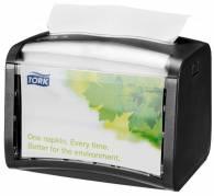 Dispenser bordservietter Tork sort/klar N4 til IF servietter 1st/pkt