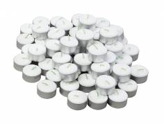Fyrfadslys hvid 6 timer 30stk/pak