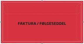 Kuverter faktura/følgesed. rød M65 110x220mm 250stk/pak