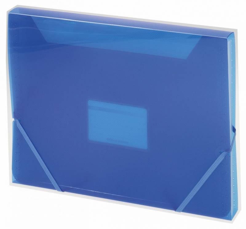 Billede af Arkivmappe PP Office DEPOT blå A4 6-rum med elastiklukning