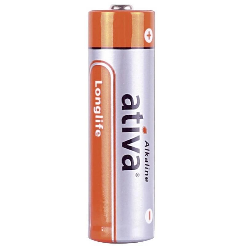 Billede af Batteri Ativa New Alkaline LR 06 AA 6stk/pk Longlife