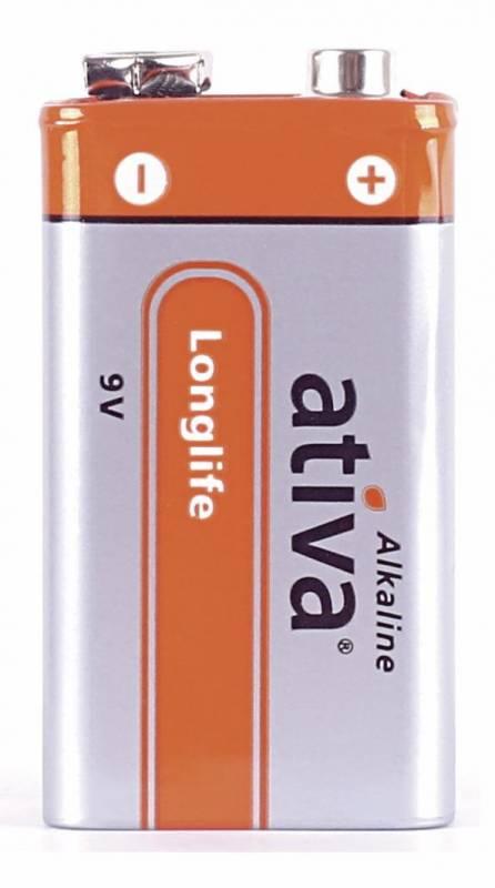 Billede af Batteri Ativa New Alkaline 6LR61 E 3stk/pk 9v Longlife