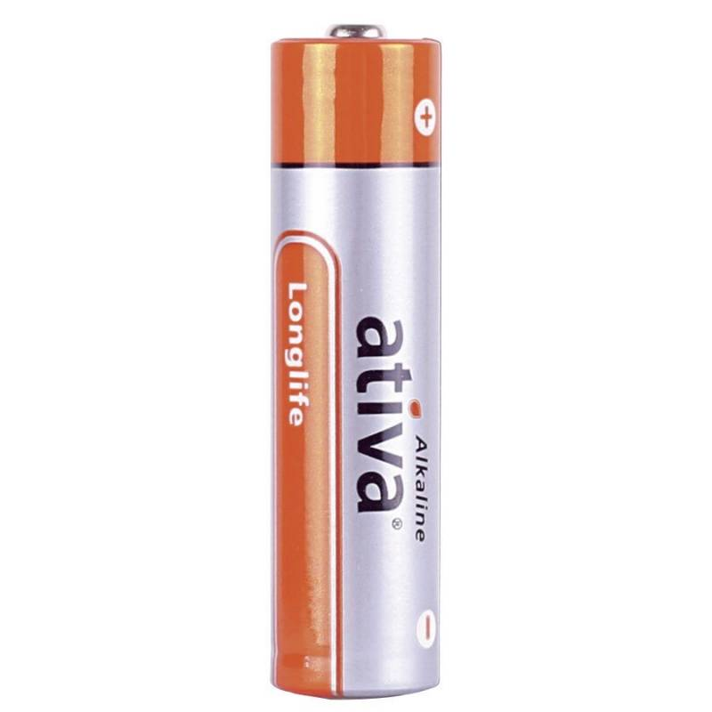 Billede af Batteri Ativa New Alkaline LR 03 AAA 24stk/pk Longlife