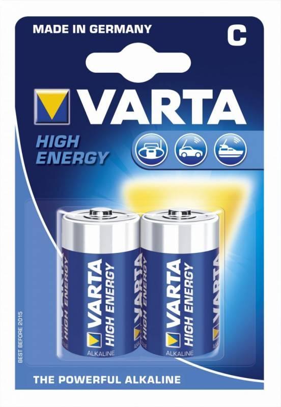 Billede af Batteri Varta High Energy LR14 C 1,5V 2stk/pak
