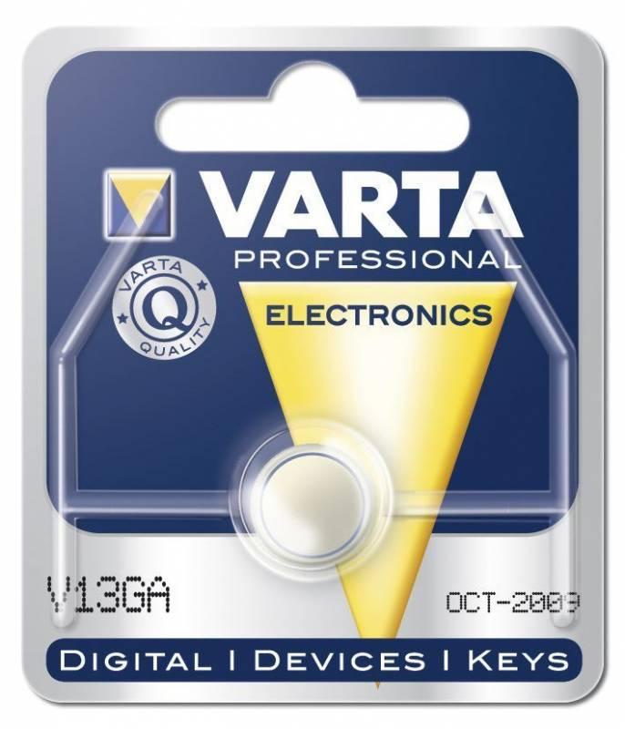Billede af Batteri Electronic Varta LR44 V13 GA 1,5V 125mAh 1stk/pak