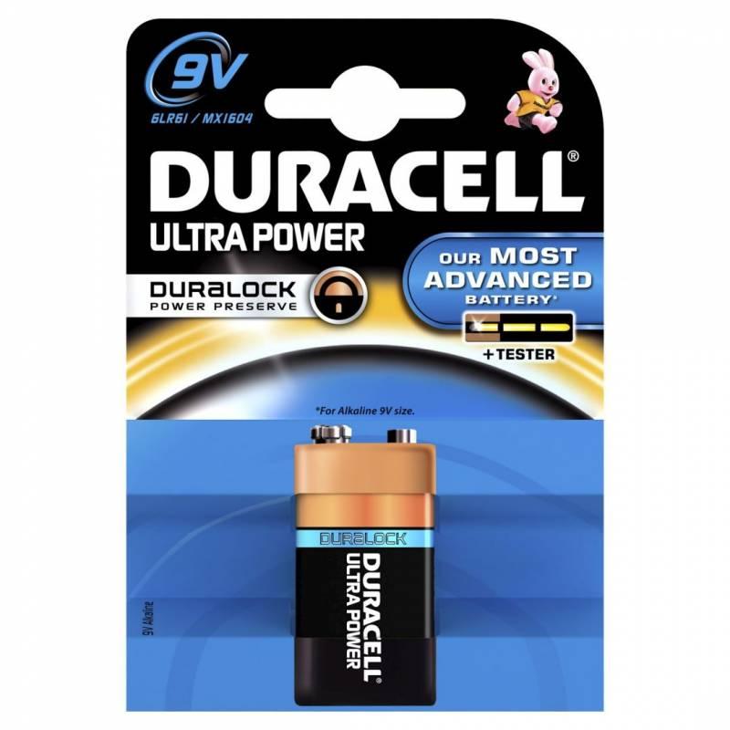 Billede af Batteri Duracell Ultra Power 9V 1stk/pak