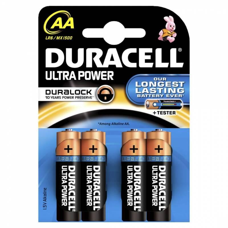 Billede af Batteri Duracell Ultra Power AA 4stk/pak