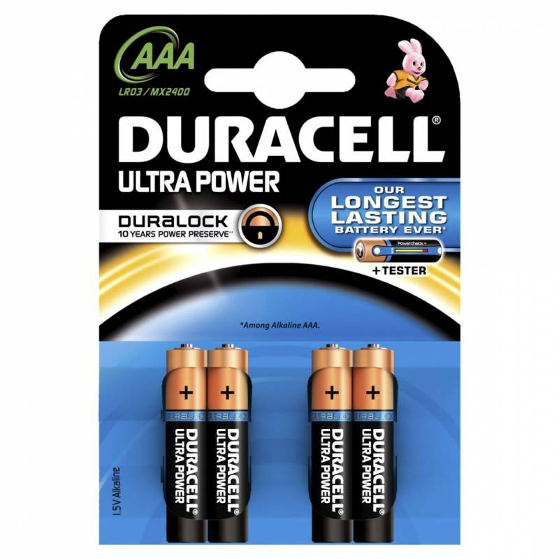 Billede af Batteri Duracell Ultra Power AAA 4stk/pak
