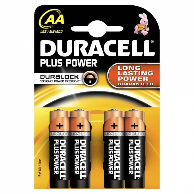 Billede af Batteri Duracell Plus Power AA 4stk/pak