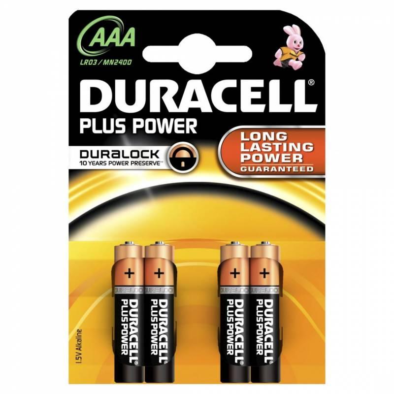 Billede af Batteri Duracell Plus Power AAA 4stk/pak