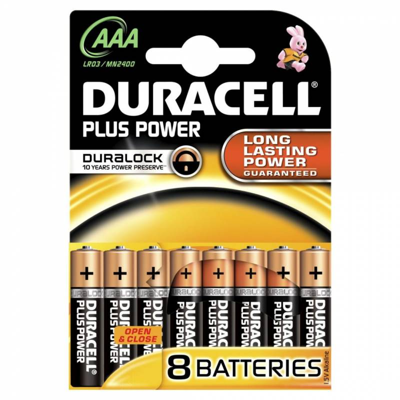 Billede af Batteri Duracell Plus Power AAA 8stk/pak