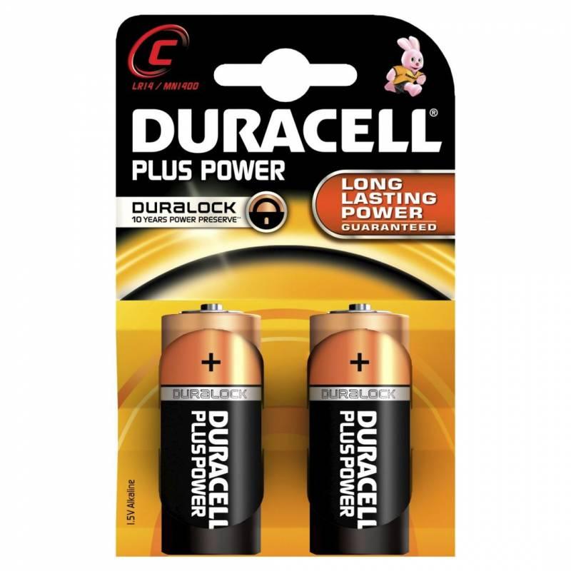 Billede af Batteri Duracell Plus Power C 2stk/pak