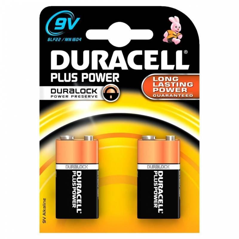 Billede af Batteri Duracell Plus Power 9V 2stk/pak