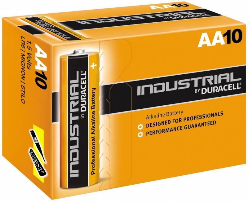 Billede af Batteri Duracell Industrial AA 10stk/pak