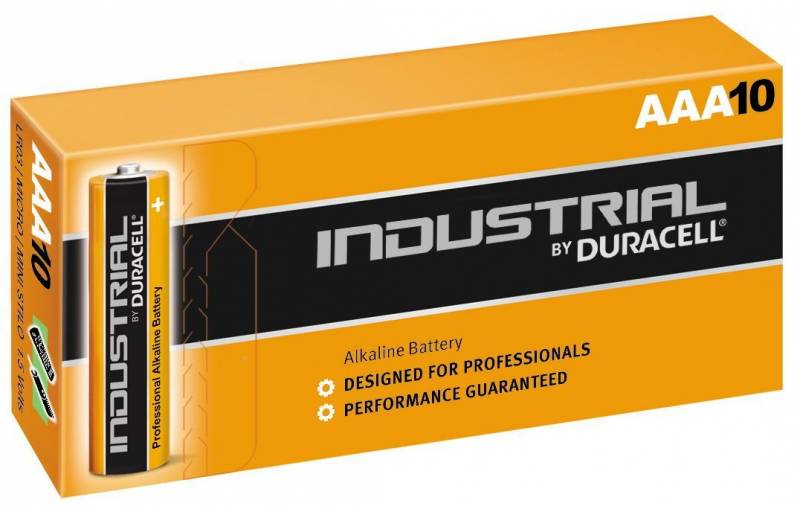 Billede af Batteri Duracell Industrial AAA 10stk/pak