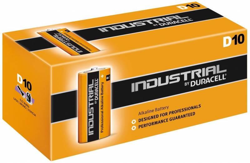 Billede af Batteri Duracell Industrial D 10stk/pak
