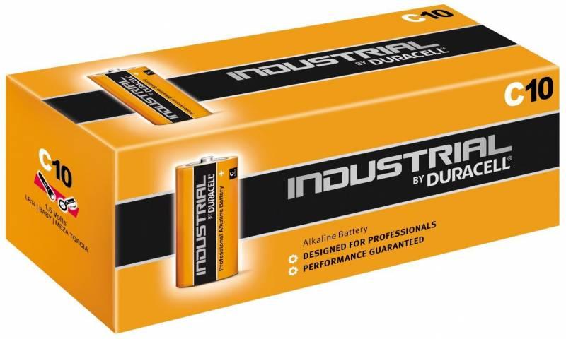 Billede af Batteri Duracell Industrial C 10stk/pak