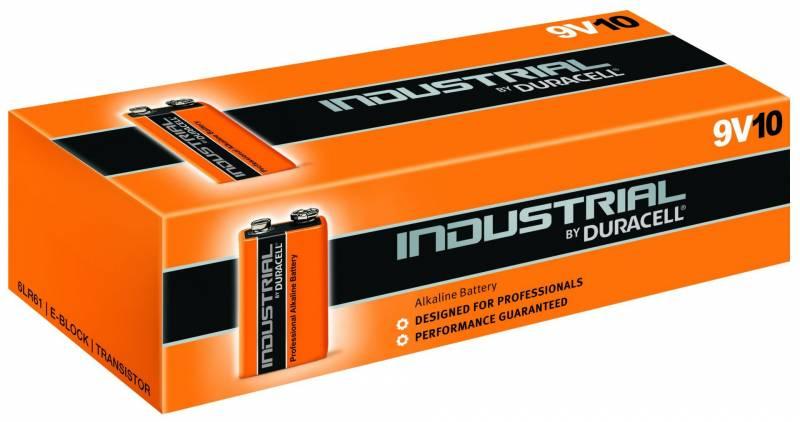 Billede af Batteri Duracell Industrial 9V 10stk/pak