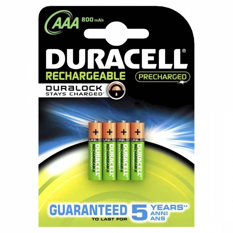 Billede af Batteri Duracell genopladelig AAA 800mAh 4stk/pak