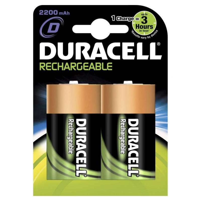 Billede af Batteri Duracell genopladelig D 2200mAh 2stk/pak