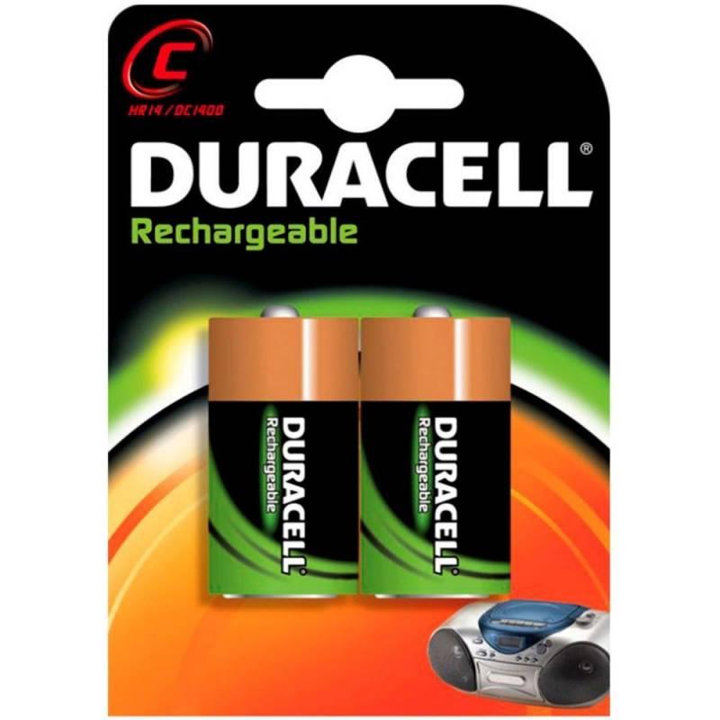 Billede af Batteri Duracell genopladelig C 2200mAh 2stk/pak