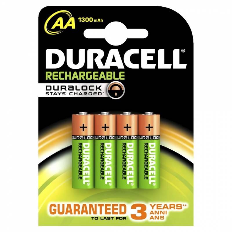 Billede af Batteri Duracell genopladelig AA 1300mAh 4stk/pak
