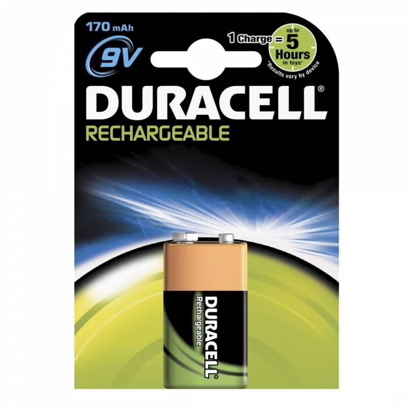 Billede af Batteri Duracell genopladelig 9V 170mAh 1stk/pak