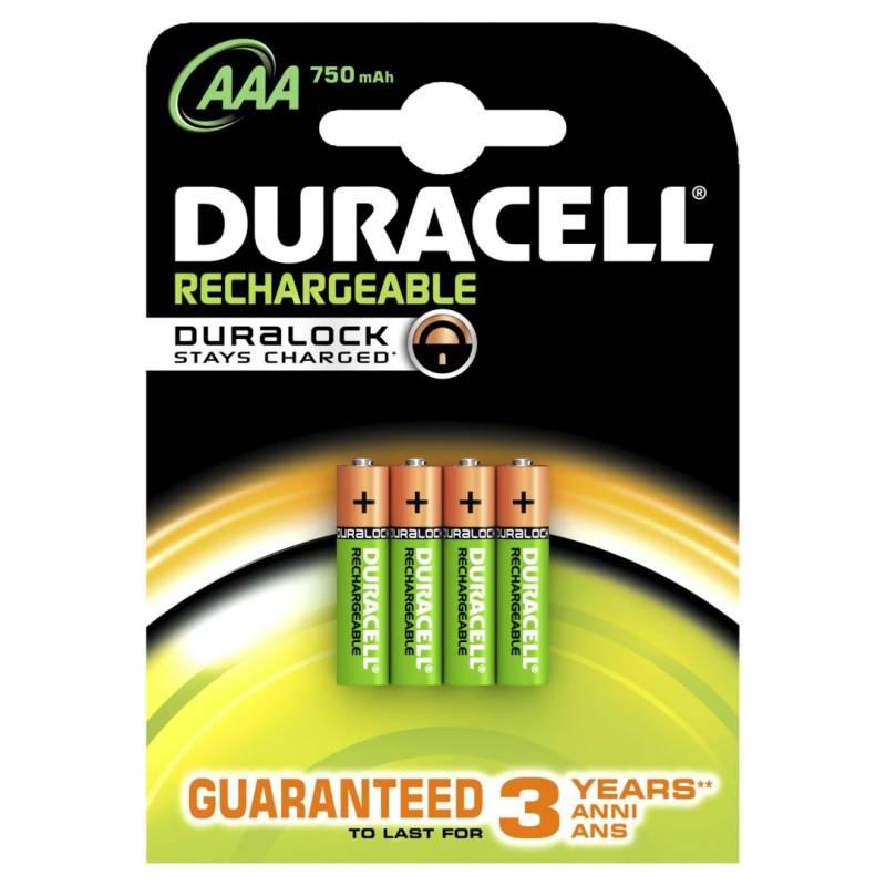 Billede af Batteri Duracell genopladelig AAA 750mAh 4stk/pak