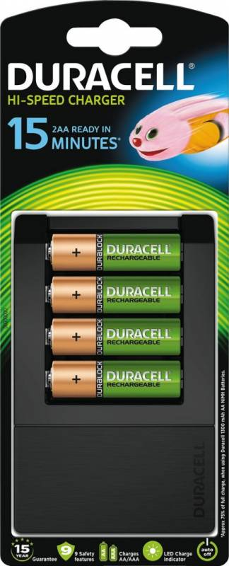 Billede af Batterilader Duracell 15 minutters oplader