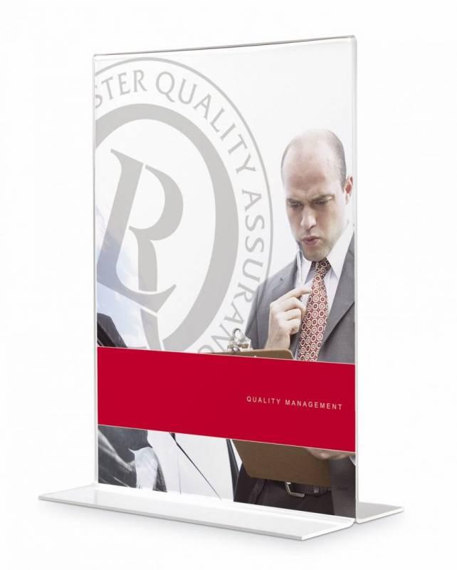 Billede af Brochureholder Office DEPOT A4 klar T-form t/bord