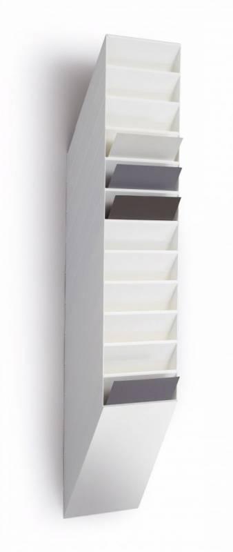 Billede af Brochureholder Flexiboxx A4 hvid 12 fag stående t/væg