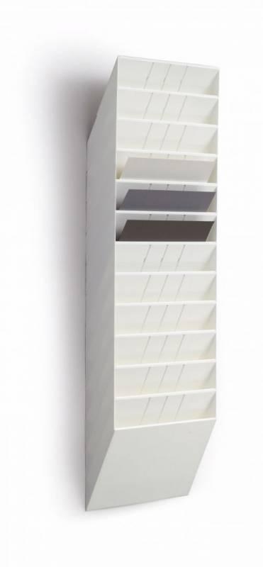 Billede af Brochureholder Flexiboxx A4 hvid 12 fag liggende t/væg