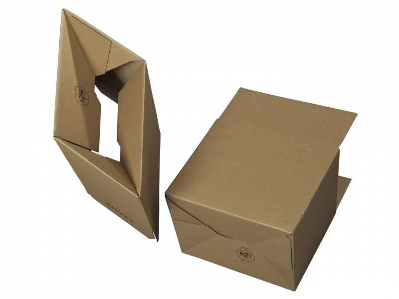 Bølgepapkasse 310x230x250mm Automatbund (A4) - 18L - 3mm